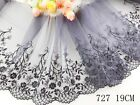 1 Yard Delicate Embroidered Flower Tulle Lace Trim Weddingsewingcraft Lace 63