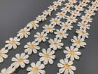 2 Yard Vintage Flower Embroidered Lace Trim Ribbon Applique Diy Sewing Craft