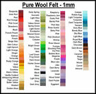 100 Pure Wool Felt Waldorf Steiner 1 Square Choose Your Own Colour