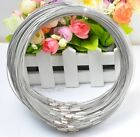 10pcs Stainless Wire Cable 1mm Steel Chain Cord Necklace Charms