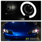 Blk 1997-1999 Mitsubishi Eclipse Halo Projector Headlights Lamps Pair Leftright