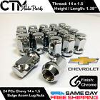 24pc Chevrolet Chrome Conical Seat 14x1.5 Wheel Lug Nuts Bulge Acorn For Chevy