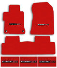 Red Lloyd Classic Loop Carpet Floor Mat Set For 2006-2020 Honda Civic Si Logo