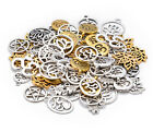 100g Tibetan Silver Mixed Spacer Beads Charms Pendant Bali Style Diy For Jewelry