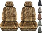 Front Set Car Seat Covers Fits 2005-2020 Toyota Tacoma Kryptec Charcoal