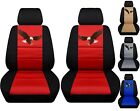 Front Set Car Seat Covers Fits 2005-2020 Toyota Tacoma  With Eagle Design
