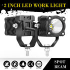 Round Led Work Light Pods Spot Motorcycle Driving Off Road Truck Deep Reflector
