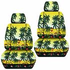 Front Set Car Seat Covers Fits 2005-2020 Toyota Tacoma Hawaill Yellow Tree