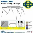 Bimini Top Boat Cover 3 Bow 6ft. Long 36 To 54 High Solution Dye Fabriccanvas