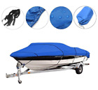 12-22ftwaterproof Heavy Duty Boat Cover Trailerable Fishing Ski V-hull Runabouts
