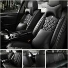 Luxury Pu Leather Car Seat Covers Frontrear Set Universal 5-seats Car Suv Truck