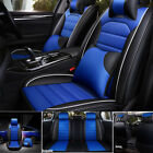 11pcs Car Seat Cover Cushionprotector Front Rear Full Set Pu Leather Interior