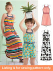 Sewing Pattern - Sew Girls Clothes Clothing Boho Maxi Dress Jumpsuit Tween 8395