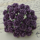 50 X 10mm Open Roses Mulberry Paper Flowers For Cardmaking Paper Crafts