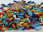 7mm Straight Bugle Czech Glass Seed Beads 10-grams Choose Color
