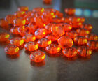 Rondelle Czech Glass Beads 6mm 50 Pcs Choose Color Wafer Disc Spacers