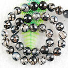 5 Color Dragon Veins Agate Round Loose Beads Gems 14 6-8-10mm