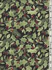 Christmas Woodland Deer Holly Toile Panel Coordinating Fabric Sold Separately