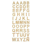 Alphabet Letters Rhinestone Stickers 1-inch 50-count