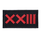 Roman Numeral Number 23 Street Wear Embroidered Iron On Patch
