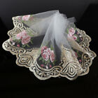 2 Yards Tulle Lace Trim Floral Embroidered Mesh Lace Ribbon Diy Sewing Craft