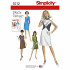 Simplicity Sewing Pattern 1012 Retro 1960s Vintage Style Dress New Uncut