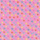 Cuddle Prints Flannel Fabric Heart Buttons On Pink Premium Cotton