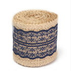 1m Natural Jute Burlap Hessian Ribbon Lace Trims Tape Rustic Wedding Wrapping