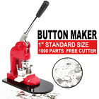 11.252.28 Button Maker Machine1000 Buttons Circle Badge Punch Press Pin Us