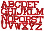Red - 2 Alphabetletters Your Choice - Iron On Appliqueembroidered Patch