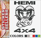 Dodge Hemi 4x4 Ram Head Tough Truck Vinyl Decal Sticker - Large Sizes Available