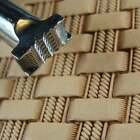 Stainless Steel Barry King - 3 Double Rope Basket Weave Stamp Leather Tool