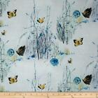 Dream Blossom Quilt Fabric Silver Metallic Floral High Quality Cotton Hoffman