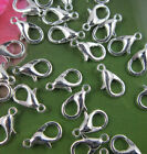 20100pcs Silvergoldbronze Lobster Claw Clasps Hooks Finding Diy 101214mm Sl