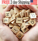 500 Scrabble Wooden Tiles Pieces 100 Letters Crafts Spelling Toy Choose Quantity
