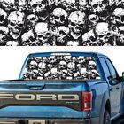 Rear Window Graphic Decal Skull Pattern Pick-up Truck Perforated Vinyl Tint