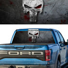 Rear Window Graphic Decal Punisher Skull Pick-up Truck Perforated Vinyl Tint