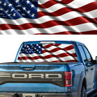 Rear Window Graphic Decal American Flag Pick-up Truck Perforated Vinyl Tint