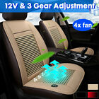 12v Cooling Car Seat Cushion Cover Air Ventilated Fan Conditioned Cooler Pad Kit