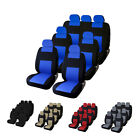 3 Row 7 Seat Full Set Car Seat Covers Front Second Rear For Auto Suv Van Truck