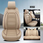 Us Luxury Car Seat Covers Pu Leather 5-seats Front Rear Universal Set Protector