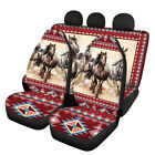 African Style Aztec Horse Pattern Car Seat Covers Full Set Universal Fit Comfort