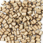 Wood Bead Bamboo Natural Antiqued Aged Round Tube Spacer Small 5 Sizes 100 Qty