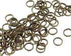 Split Ring Double Jumpring Connectors Gold Silver Copper Brass Strong 4 Sizes