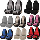 Mesh Honeycomb Van Front High Back Bucket Pair Seat Covers Universal 2pc