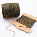 100m Goldsilver Plated Open Link Iron Metal Cable Chain For Jewelry Making Diy