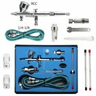 Dual Action Airbrush Air Compressor Kit Craft Cake Paint Art Spray Gun Set