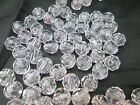 50 - 10mm Translucent Round Faceted Acrylic Plastic Beads