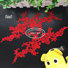 2pcfabric Venise Flower Embroidered Lace Trim Sewing Crafts Appliques Diy Fl198