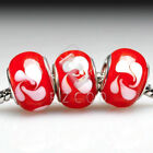 510pcs New European Murano Glass Beads Lampwork Fit Charm Bracelet 14x14x10mm